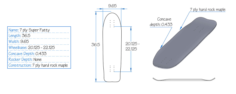 Bonzing 7ply Super Fatty Board Specs