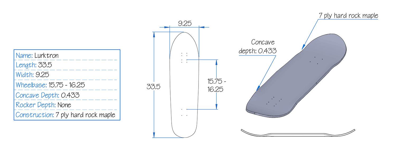 Bonzing Lurktron Skateboard Specs