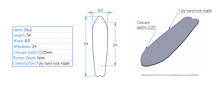 Bonzing Stijl Skateboard Specs